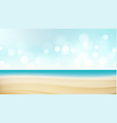 Beach tropical travel seaside view poster vector