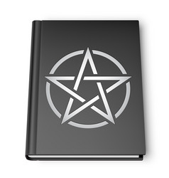 black book with pentagram vector image vector image