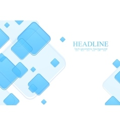 Blue geometric squares on white background vector image vector image