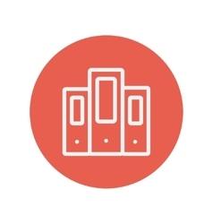 Book file thin line icon vector image