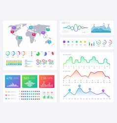 business infographic elements flowing graphics vector image vector image