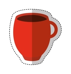coffee cup drink icon vector image