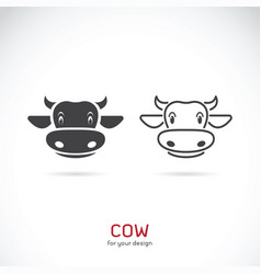 Cow face design on white background farm animals vector