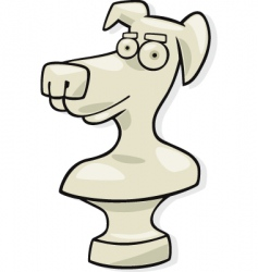 Dog sculpture vector