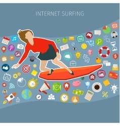 Fast speed mobile internet surfing vector