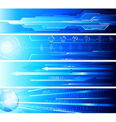 Four futuristic banners vector image vector image