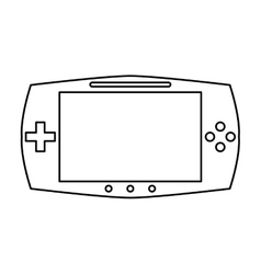 Game console portable play device linear vector