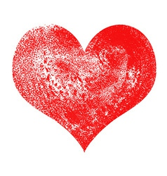 Heart painted and textured vector