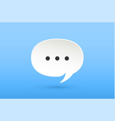icon of white paper cloud talk for chat vector image vector image