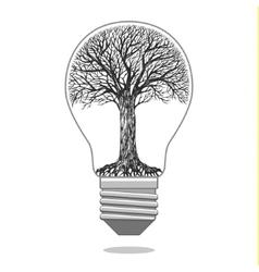 Isolated eco bulb vector