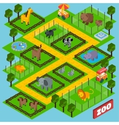 Isometric zoo park vector