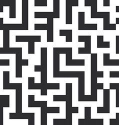 Labyrinth seamless pattern The black lines on vector image