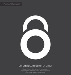 Lock premium icon white on dark background vector