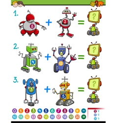 mathematical educational game vector image vector image