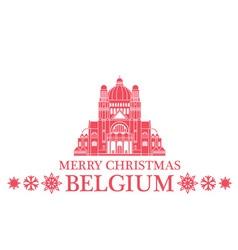 Merry christmas belgium vector