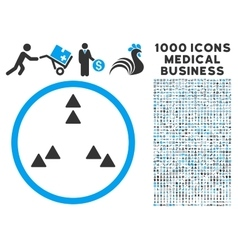 Move out icon with 1000 medical business vector