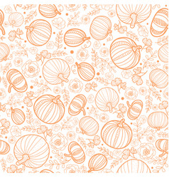 orange falling pumpkins seamless repeat vector image