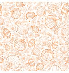 Orange falling pumpkins seamless repeat vector