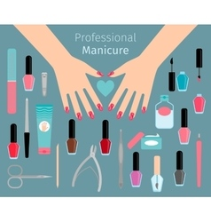Professional manicure accessorie vector