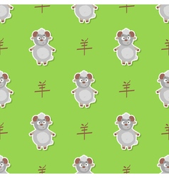 Seamless pattern with chinese zodiac goat sign vector