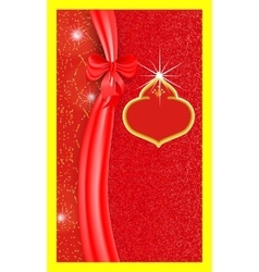 Template vertical celebratory gift voucher with vector image