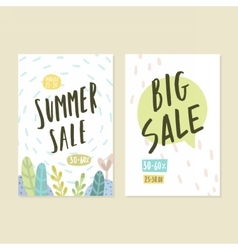 Two flyer templates summer sale vector