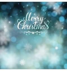 Christmas greeting card with blur background and vector