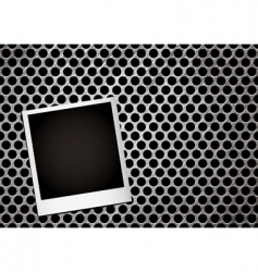 Metal grill photo vector