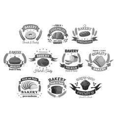 Bread and bakery desserts icons set vector