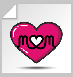 Mothers day icons 6 vector