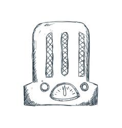Antique radio draw vector