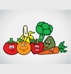 Fruits veggies collection 3 vector
