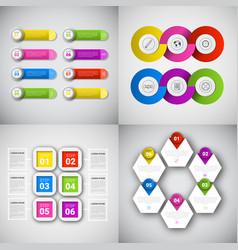 Headline infographic set design business data vector