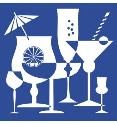 Drinking glasses vector