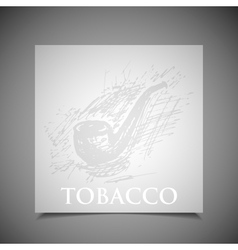 A hand-drawn tobacco pipe vector