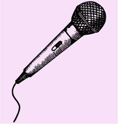 Microphone karaoke vector
