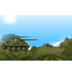 A military tank vector