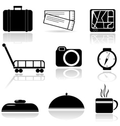 A set of icons vector image vector image