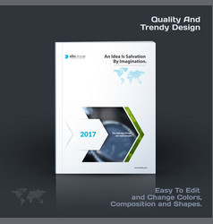 annual report business abstract template vector image