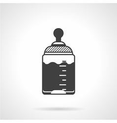 Baby bottle black icon vector