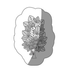 Contour creative tree icon vector
