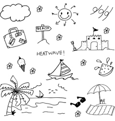 Doodle art summer vector