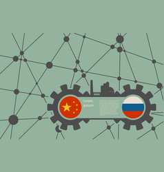 Economic relations between china and russia vector