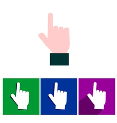 finger point icons vector image vector image