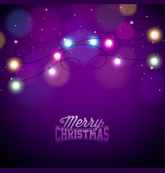 Glowing colorful christmas lights for xmas holiday vector
