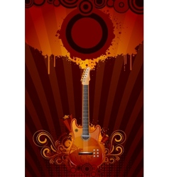 Grungy Guitar vector image