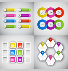 Headline infographic set design business data vector