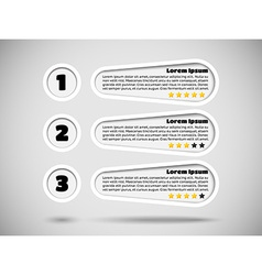 Infographics with menu items and rating vector image vector image
