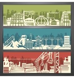 Metallurgy banners vector