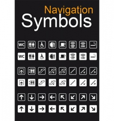 navigation symbols vector image vector image